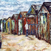 Beach Huts Painting - Seaside Art Gallery