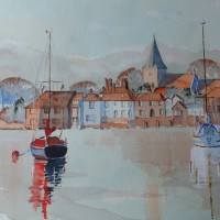 Langstone Mill – Hampshire Art Gallery Watercolour Painting by Artist David Harmer