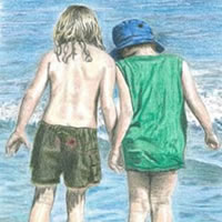 Searching on the Beach - Surrey Artist Linda Brand