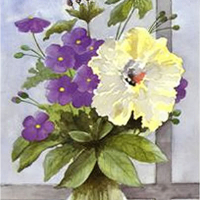 Floral Art Prints - West Sussex Artist - Audrey Laycock
