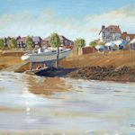 Beached Yacht – Gosport Hampshire – Hardway-  Fareham Art Group Artist David Whitson