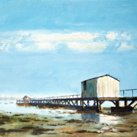 Gosport – Sultans Jetty Hardway – High-Summer – David Whitson Seascape Artist