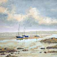 Portsmouth Harbour Looking North from Hardway – Gosport Artist David Whitson
