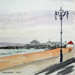 South Parade Pier Southsea Portsmouth Painting – Hampshire Art Gallery