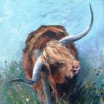 Bull – Best In Show – Acrylic – Hampshire Artists Gallery – Prints and Cards – Southampton Art Society – Ruth L