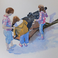 Hampshire Art Gallery – Children on HMS Warrior Portsmouth Dockyard
