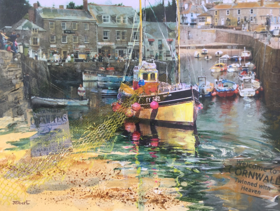 Cornwall Harbour Coastal Art - Hampshire Artist Wendy Jelbert
