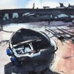 Emsworth Boat – Original Watercolour – Hampshire Landscape Artist Nic Cowper