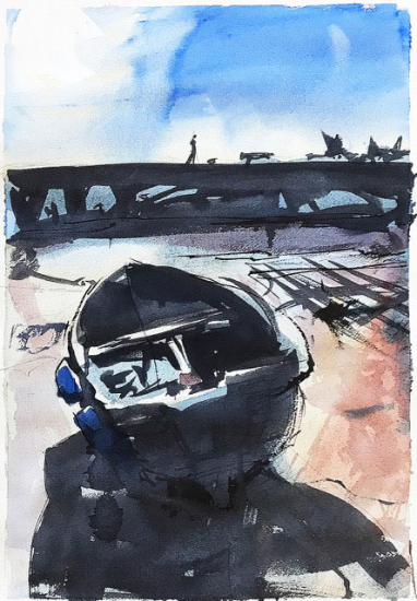 Emsworth Boat - Original Watercolour - Hampshire Landscape Artist Nic Cowper