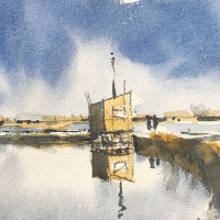 Emsworth Mill Pond Wall – Hampshire Art Gallery – Nic Cowper