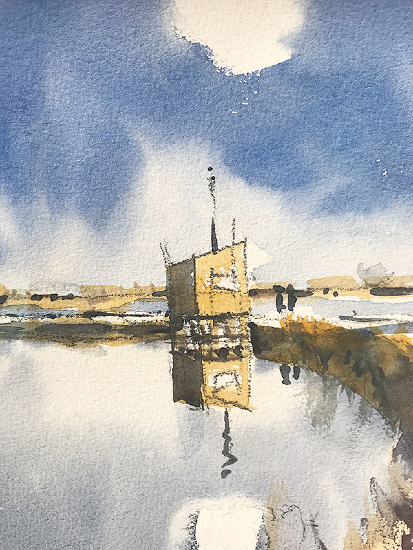 Emsworth - Mill Pond Wall - Hampshire Art Gallery - Nic Cowper