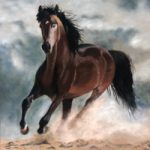 Galloping Horse – Storm – Pastel Painting by Ringwood Art Society member Pauline Scott