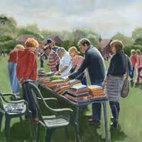 Littleton Fair – Hampshire Art Gallery – Bookstall – Oil Painting