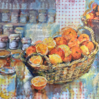 Marmalade Time – Hampshire Artist Wendy Jelbert – Collage with Mixed Media