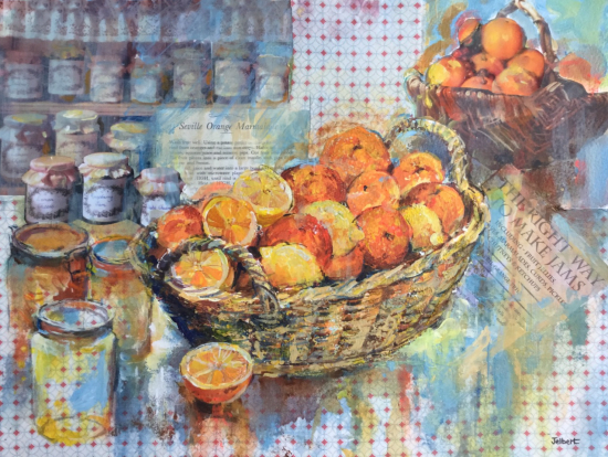 Marmalade Time - Collage with Mixed Media - Hampshire Artist Wendy Jelbert