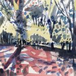 Contemporary Art – May Trees 2 – Hampshire Art Gallery – Emsworth Landscape Artist Nic Cowper