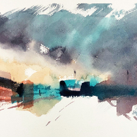 Emsworth Hampshire Artist – Abstract Cityscale – Nic Cowper