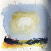 Sunrise Triptych 1 – Emsworth Hampshire Artist and Art Tutor Nic Cowper