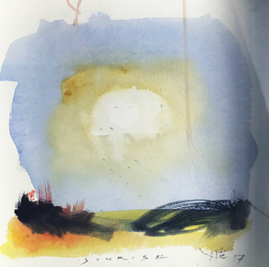 Sunrise Triptych 1 Hampshire Art Gallery Artist Nic Cowper