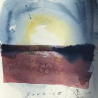 Sunrise Triptych 2 – Emsworth Hampshire Landscape Artist Nic Cowper