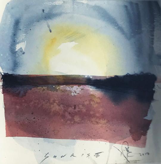 Sunrise Triptych 2 - Emsworth Hampshire Landscape Artist Nic Cowper