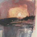 Sunrise Triptych 3 Hampshire Art Gallery – Emsworth Artist and Art Tutor Nic Cowper