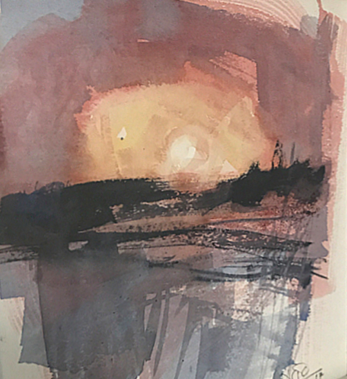 Sunrise Triptych 3 Hampshire Art Gallery - Emsworth Artist and Art Tutor Nic Cowper