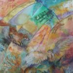 Twilife – Wildlife at night in countryside – Fox, Hare, Owl, Dormouse – Hampshire Artists Gallery – Romsey Art Group – Ruth Lewis