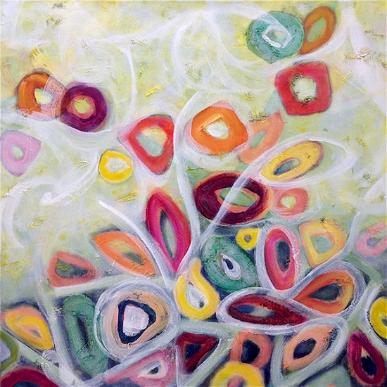 Abstract Art based on Biology and Ecology - Primavera - Hampshire Artist Tessa Coe