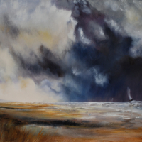 Ringwood Art Society – Approaching Storm – Seascape by Artist Jean Baylis