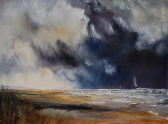 Approaching Storm - Seascape by Ringwood Art Society Artist Jean Baylis