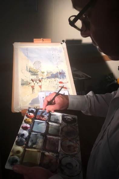 Art Tuition - Nic Cowper, Hampshire Artist At Work