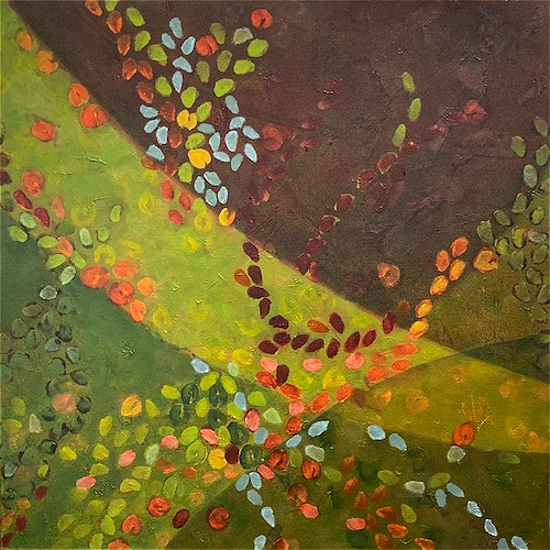 Autumn Dance - Leaves and Petals - Garden Art - Hampshire Gallery - Tessa Coe