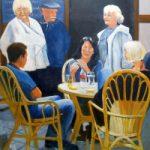 Bar – St. Silain Périgueux France – Hayling Island Artist Mike Johnson