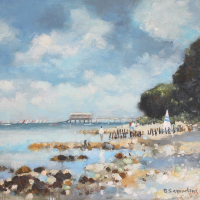 Bembridge Isle of Wight – Lifeboat Station – Hampshire Artists Gallery – Becky Samuelson Coastal Art