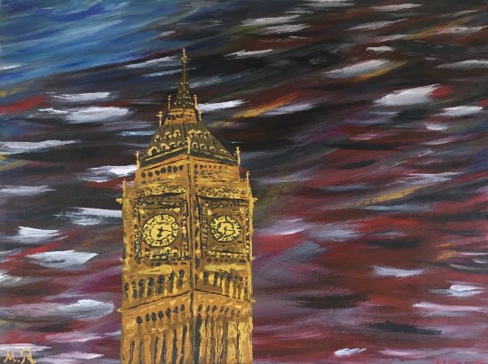Big Ben - London Landmark - Petersfield Artist Mahmood Roostaei