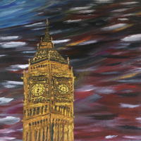 Big Ben – London Landmark – Petersfield Hampshire Artist Mahmood Roostaei