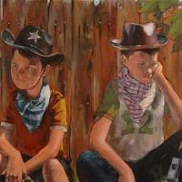 Boys Playing with Guns – Cowboys – Too-Few Role Models – Artist William Rochfort