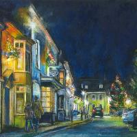 Alresford Hampshire – Contemporary Gallery – Winchester Artist Ted Hepenstal – Christmas Lights