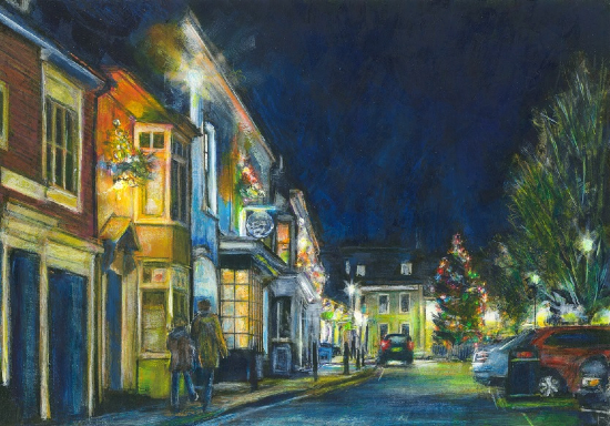 Christmas Lights, Alresford - Contemporary Winchester Artist Ted Hepenstal
