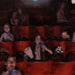 Cinema – Pictures – People Watching Film – Hampshire Artist William Rochfort