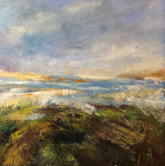 Coastal Art - Losing Myself at Crackington Haven, Cornwall - Artist Karen Eames