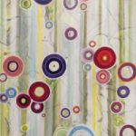Contemporary Abstract Art – Circles and Stripes – Hampshire Artist Tessa Coe – Dangling Conversation 2