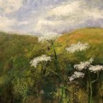Winchester Field – Cow Parsley Flowers After the Rain – Landscape Painting – Karen Eames