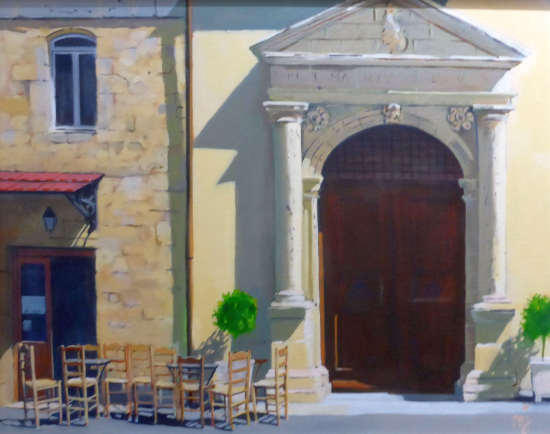 Cretan Taverna - Hampshire Artists Gallery - Chichester and Hayling Island Arts Trail member Mike Johnson
