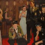 Crime Scene at the Movies – Lymington Hampshire Artist William Rochfort – Ice Cold Under the Skin