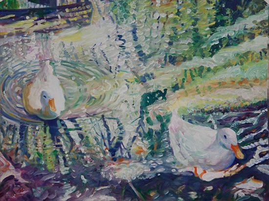 Ducks - Hartley Wintney Fine Artist and Art Tutor Nicholas Walsh