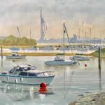 Forton Lake Boats, Portsmouth Harbour – Hampshire Art Gallery – Gosport Artist David Whitson