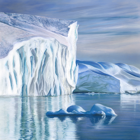 Greenland Iceberg - Hampshire Artist Jennifer Thorpe - Bursledon Art Society