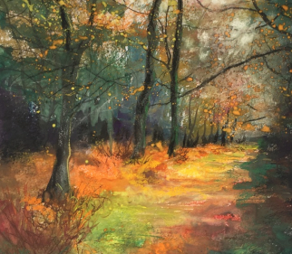 Hampshire Pastel Artist Jennifer Thorpe - Golden Path